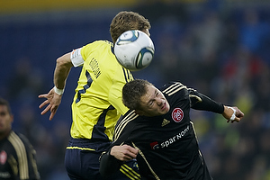 Clarence Goodson, anf�rer (Br�ndby IF), Henrik Dalsgaard, anf�rer (Aab)