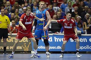 Olafur Gudmundsson (Nordsj�lland H�ndbold), Magnus Bramming (Nordsj�lland H�ndbold), Ren� Toft Hansen (AG K�benhavn)