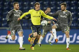 Martin Spelmann (AC Horsens), Michael Krohn-Dehli (Br�ndby IF), Janus Mats Drachmann (AC Horsens)