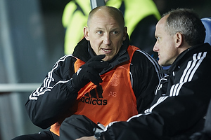 Auri Skarbalius, cheftr�ner (Br�ndby IF), Bent Christensen Arens�e, assistenttr�ner (Br�ndby IF)