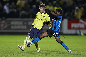 Mikael Nilsson (Br�ndby IF), Adeola Runsewe (HB K�ge)