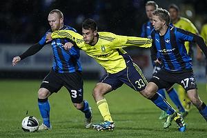Lasse Kronborg (HB K�ge), Dario Dumic (Br�ndby IF), Thomas S�rensen (HB K�ge)
