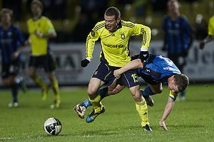 Mikkel Thygesen (Br�ndby IF), Thomas Guldborg, anf�rer (HB K�ge)