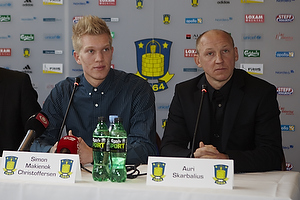 Ole Bjur, sportschef (Br�ndby IF), Simon Makienok Christoffersen (Br�ndby IF), Auri Skarbalius, cheftr�ner (Br�ndby IF)