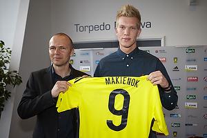 Ole Bjur, sportschef (Br�ndby IF), Simon Makienok Christoffersen (Br�ndby IF)