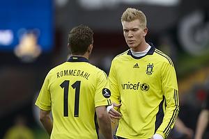 Dennis Rommedahl (Br�ndby IF), Simon Makienok Christoffersen (Br�ndby IF)