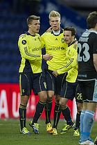 Nicolaj Agger (Br�ndby IF), Simon Makienok Christoffersen (Br�ndby IF), Mike Jensen (Br�ndby IF)