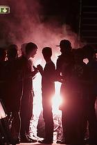 Skjern-fans affyrer fyrv�rkeri