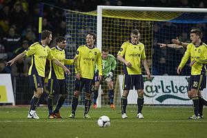 Dennis Rommedahl (Br�ndby IF), Daniel Norouzi (Br�ndby IF), Mike Jensen (Br�ndby IF), Mikkel Thygesen (Br�ndby IF)