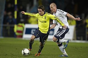 Mathias Gehrt (Br�ndby IF), S�ren Berg (Agf)