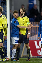 Clarence Goodson, anf�rer (Br�ndby IF), Thomas Rasmussen (Lyngby BK)