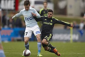 Daniel Norouzi (Br�ndby IF), Lasse Vibe (S�nderjyskE)