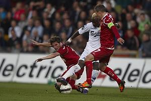 S�ren Christensen (FC Nordsj�lland), Dame N´Doye (FC K�benhavn), Nicolai Stokholm, anf�rer (FC Nordsj�lland)