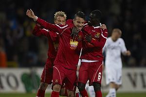 Mikkel Beckmann, m�lscorer (FC Nordsj�lland), Enock Kofi Adu (FC Nordsj�lland)