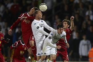 Andreas Bjelland (FC Nordsj�lland), Bryan Oviedo (FC K�benhavn), S�ren Christensen (FC Nordsj�lland)