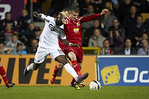 Dame N´Doye (FC K�benhavn), Andreas Bjelland (FC Nordsj�lland)