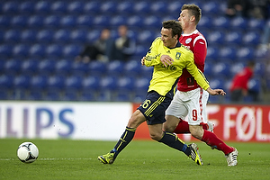 Mike Jensen (Br�ndby IF), Marvin Pouri� (Silkeborg IF)