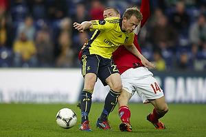 Michael Krohn-Dehli (Br�ndby IF), Dennis Flinta (Silkeborg IF)
