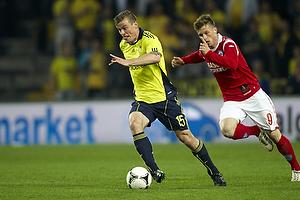 Mikkel Thygesen (Br�ndby IF), Marvin Pouri� (Silkeborg IF)