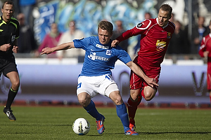 Emil Larsen (Lyngby BK), Nicolai Stokholm, anf�rer (FC Nordsj�lland)