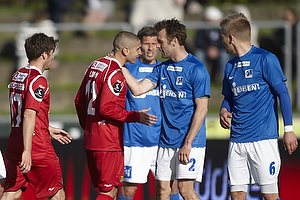 Rawez Lawan (FC Nordsj�lland), Thomas Rasmussen (Lyngby BK)