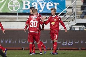 Bajram Fetai, m�lscorer (Lyngby BK), Mikkel Beckmann (FC Nordsj�lland)