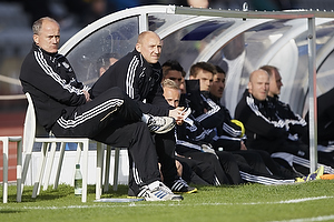 Bent Christensen Arens�e, assistenttr�ner (Br�ndby IF), Auri Skarbalius, cheftr�ner (Br�ndby IF)