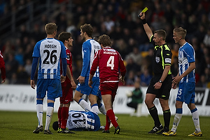 Jakob Kehlet, dommer, Henrik Kildentoft (FC Nordsj�lland), Eric Djemba-Djemba (Ob)