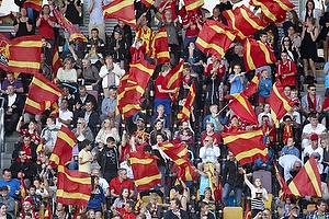 FCN-fans med flag