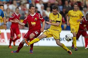 Kasper Lorentzen (FC Nordsj�lland), Janus Mats Drachmann (AC Horsens)