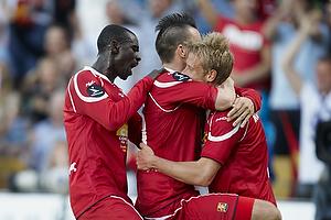 Mikkel Beckmann, m�lscorer (FC Nordsj�lland), Tobias Mikkelsen (FC Nordsj�lland)