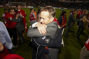 Kasper Hjulmand, cheftr�ner (FC Nordsj�lland), Jesper Hansen (FC Nordsj�lland)