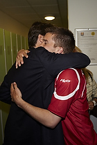 Andreas Laudrup (FC Nordsj�lland) lyk�nskes af sin far Michael Laudrup