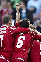 Mikkel Beckmann, m�lscorer (FC Nordsj�lland), Nicolai Stokholm, anf�rer (FC Nordsj�lland), Enock Kofi Adu (FC Nordsj�lland), Tobias Mikkelsen (FC Nordsj�lland)