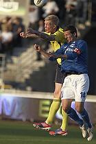 Simon Makienok Christoffersen (Br�ndby IF), Mathias Tauber, anf�rer (Lyngby BK)