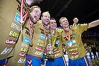 Snorri Gudj�nsson (AG K�benhavn), Lars J�rgensen (AG K�benhavn), Arn�r Atlason (AG K�benhavn), Gudj�n Valur Sigurdsson (AG K�benhavn) med pokalen