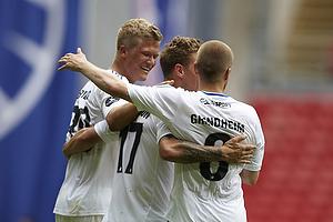 Andreas Cornelius, m�lscorer (FC K�benhavn), Ragnar Sigurdsson (FC K�benhavn), Christian Grindheim (FC K�benhavn)