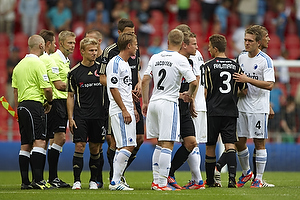 Lars Jacobsen (FC K�benhavn), Jakob Ahlmann (Aab), Kris Stadsgaard (FC K�benhavn)