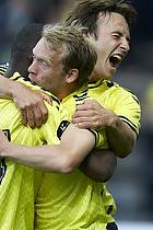 Franck Semou, m�lscorer (Br�ndby IF), Mike Jensen (Br�ndby IF), Michael Krohn-Dehli (Br�ndby IF)