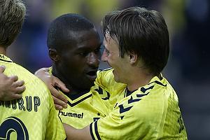 Franck Semou, m�lscorer (Br�ndby IF), Mike Jensen (Br�ndby IF)