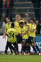 Simon Makienok Christoffersen, m�lscorer (Br�ndby IF), Daniel Norouzi (Br�ndby IF), Daniel Stenderup (Br�ndby IF), Franck Semou (Br�ndby IF)