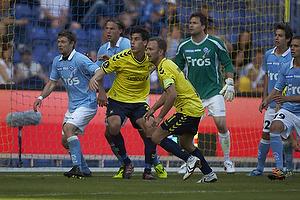 Dario Dumic (Br�ndby IF), Dennis Rommedahl, anf�rer (Br�ndby IF), Florian Hart (S�nderjyskE), H�kon Opdal (S�nderjyskE)