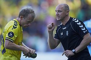 Michael Krohn-Dehli (Br�ndby IF), Auri Skarbalius, cheftr�ner (Br�ndby IF)