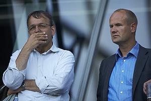 Sten Lerche, bestyrelsesformand (Br�ndby IF), Tommy Sommer H�kansson, adm. direkt�r (Br�ndby IF)