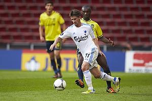 Franck Semou (Br�ndby IF), C�sar Santin (FC K�benhavn)