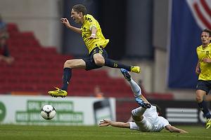 Clarence Goodson, anf�rer (Br�ndby IF), Thomas Kristensen (FC K�benhavn)