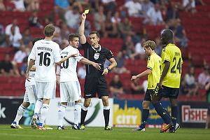 Kenn Hansen, dommer, Martin Vingaard (FC K�benhavn), Thomas Kristensen (FC K�benhavn)
