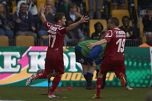 S�ren Christensen, m�lscorer (FC Nordsj�lland), Mark Gundelach (FC Nordsj�lland)