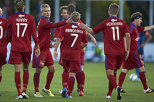 Uffe Manich Bech, m�lscorer (Lyngby BK), Patrick Mortensen (Lyngby BK), Yussuf Y. Poulsen (Lyngby BK)