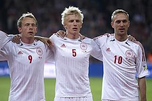 Michael Krohn-Dehli (Danmark), Daniel Wass (Danmark), Dennis Rommedahl (Danmark)
